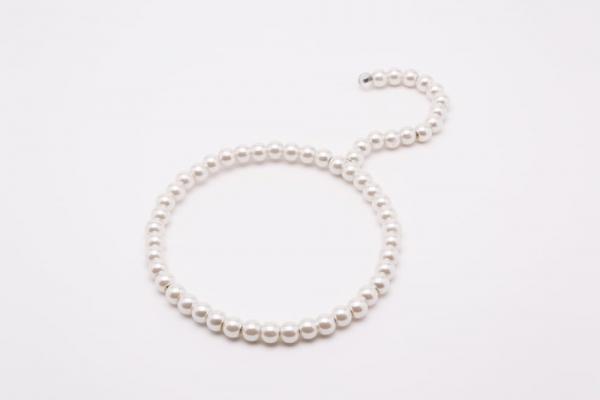 Perlen Tuchbügel Weiß 01