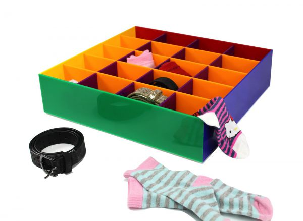 """Gürtel- , Sockenbox für Kinderkleidung """"REGENBOGEN"""""""
