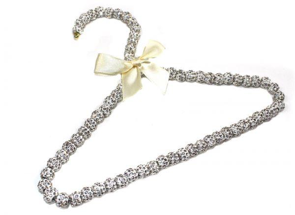 Kristall Perlenkleiderbügel für Kinderkleidung